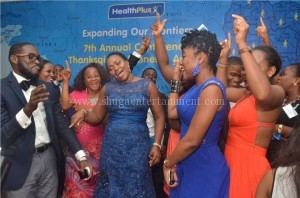 CEO Healthplus and Guest dancing to Shuga's music